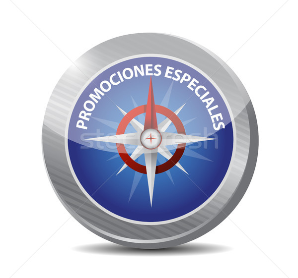 special promotions in Spanish compass sign concept Stock photo © alexmillos