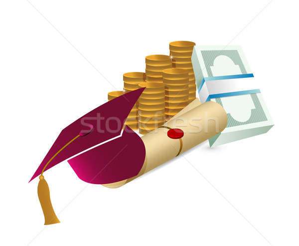 ár bizonyítvány képzés illusztráció terv érettségi Stock fotó © alexmillos
