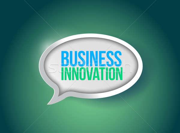 Business innovatie tekstballon illustratie ontwerp grafische Stockfoto © alexmillos