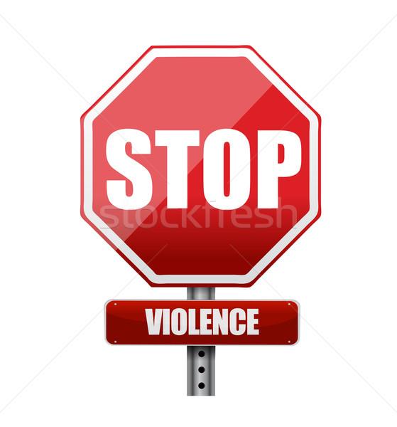 Stop violenza illustrazione design bianco mano Foto d'archivio © alexmillos