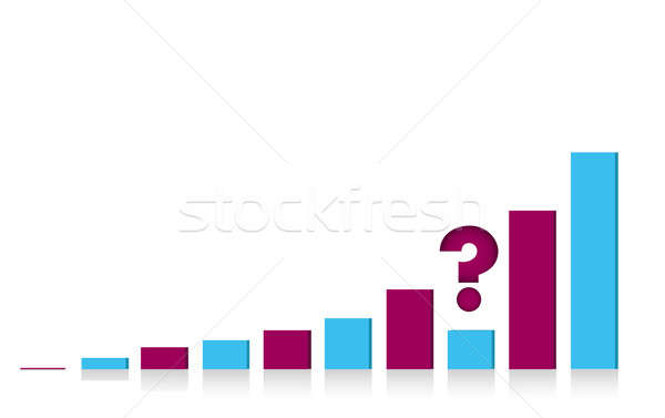unknown results business graph illustration Stock photo © alexmillos