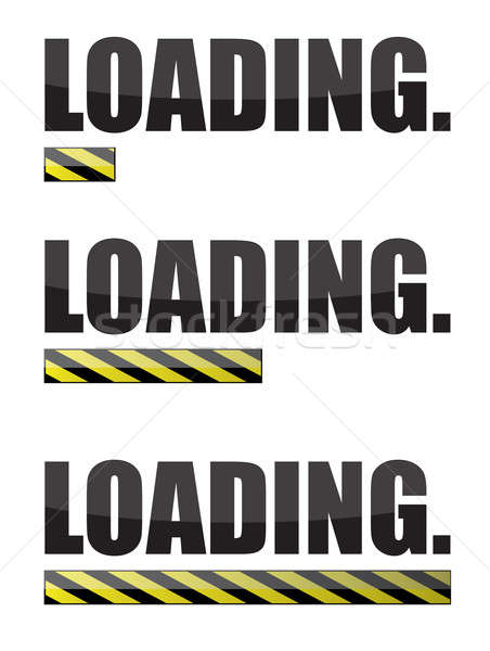 Loading internet website bars isolated over a white background Stock photo © alexmillos