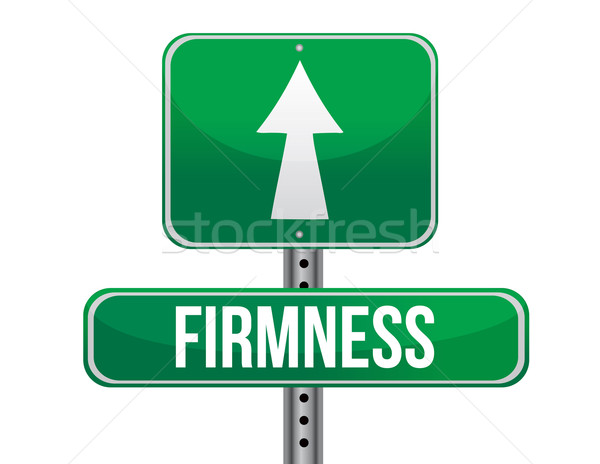 firmness road sign illustration design over a white background Stock photo © alexmillos