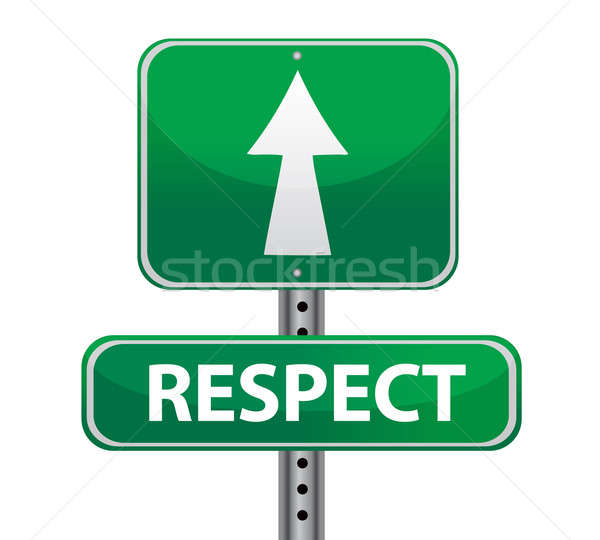 respect road sign illustration design over a white background Stock photo © alexmillos
