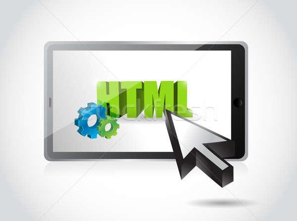 タブレット html アクセス 実例 デザイン 白 ストックフォト © alexmillos