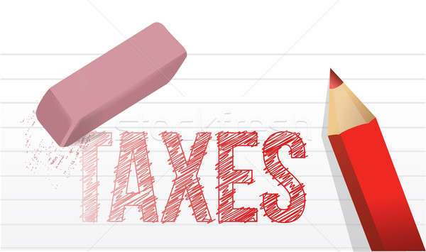 erase taxes concept illustration design over a white background Stock photo © alexmillos
