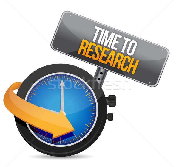 time for research illustration design over a white background Stock photo © alexmillos