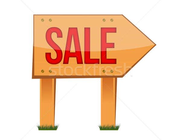 Сток-фото: продажи · знак · иллюстрация · дизайна · белый