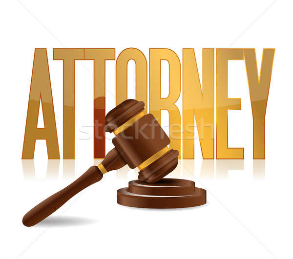 attorney at law sign illustration design over a white background Stock photo © alexmillos