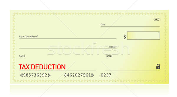 Tax deduction bank check illustration design  Stock photo © alexmillos
