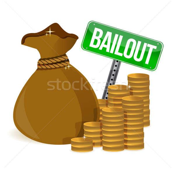 Bailout. Money bag sign Stock photo © alexmillos