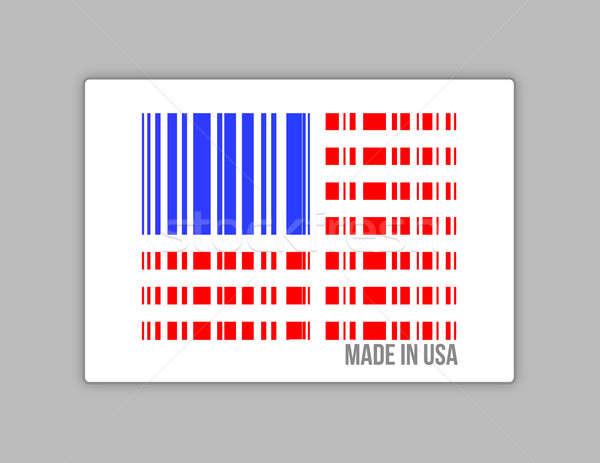 Barcode USA. Made in usa illustration design Stock photo © alexmillos