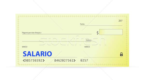 Stipendio verificare spagnolo finanziare banca contanti Foto d'archivio © alexmillos