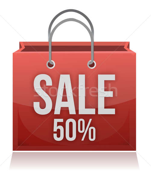 50% OFF SHOPPING BAG Stock photo © alexmillos