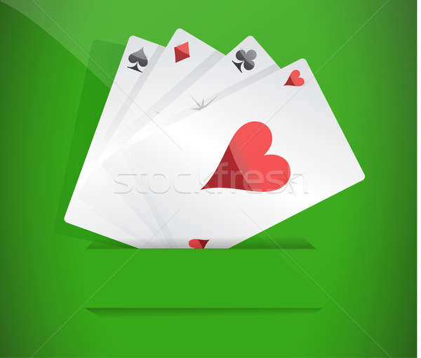 A winning poker hand of four aces  Stock photo © alexmillos