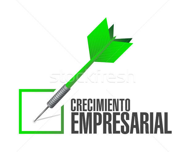 Business Growth check dart sign in Spanish. Stock photo © alexmillos