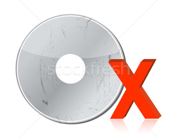 Damaged CD-ROM illustration design Stock photo © alexmillos