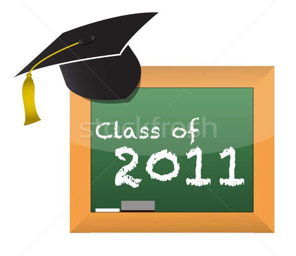Classe 2011 école éducation illustration design Photo stock © alexmillos