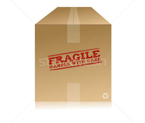 fragile handle with care box Stock photo © alexmillos
