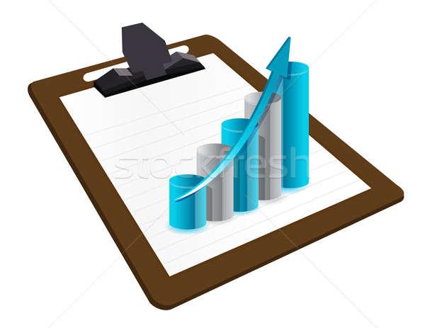 Business planing on clipboard illustration Stock photo © alexmillos