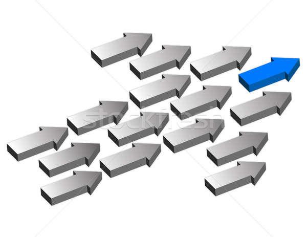 Leadership Arrows Stock photo © alexmillos