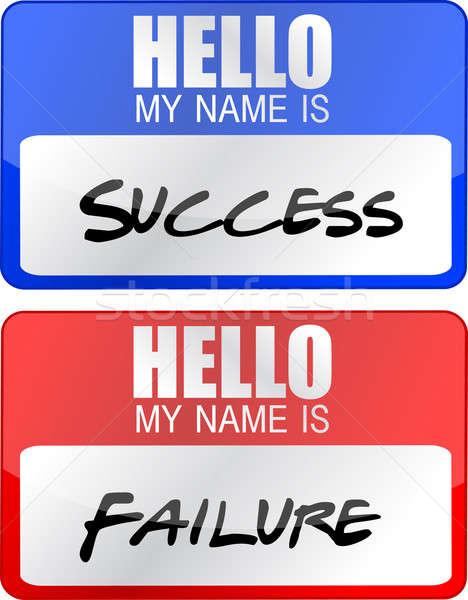 éxito fracaso rojo azul nombre etiquetas Foto stock © alexmillos