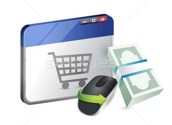 Сток-фото: беспроводных · Компьютерная · мышь · изолированный · белый · бизнеса
