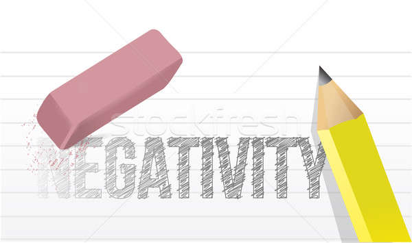 erasing negativity concept illustration design over a white back Stock photo © alexmillos