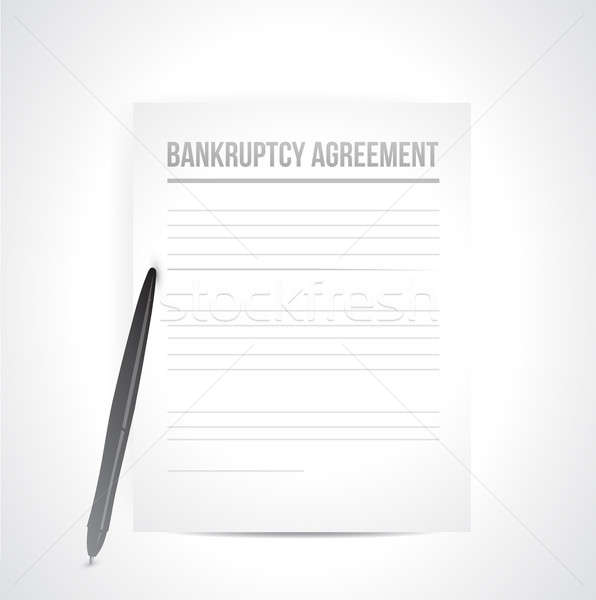 bankruptcy agreement documents. illustration design over white Stock photo © alexmillos