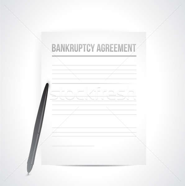 Quiebra acuerdo documentos ilustración diseno blanco Foto stock © alexmillos