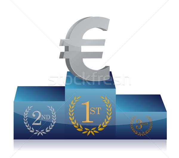 евро подиум иллюстрация дизайна белый Сток-фото © alexmillos