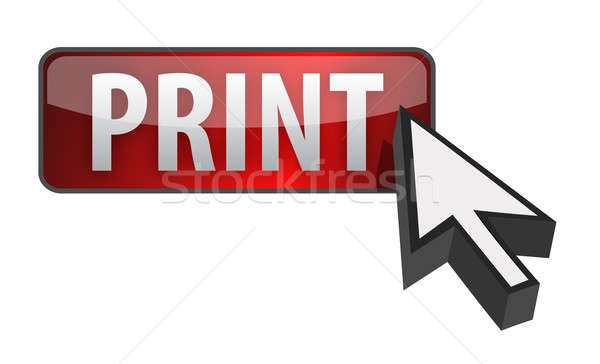 Baskı kırmızı düğme imleç örnek dizayn Stok fotoğraf © alexmillos