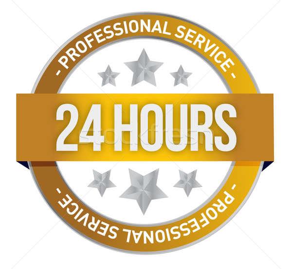 двадцать четыре час поддержки иллюстрация дизайна Сток-фото © alexmillos