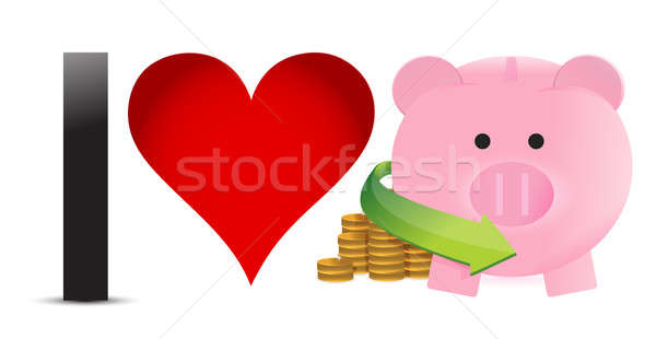 in love with profits illustration design over a white background Stock photo © alexmillos