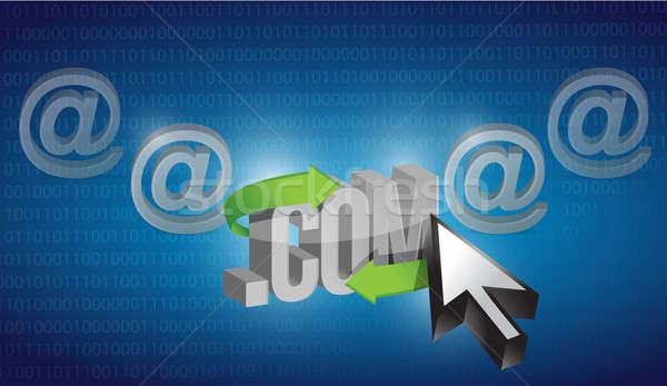 Internet seçilmiş mavi ikili bilgisayar teknoloji Stok fotoğraf © alexmillos
