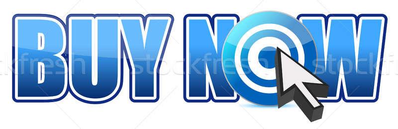 Cible illustration design internet signe Photo stock © alexmillos