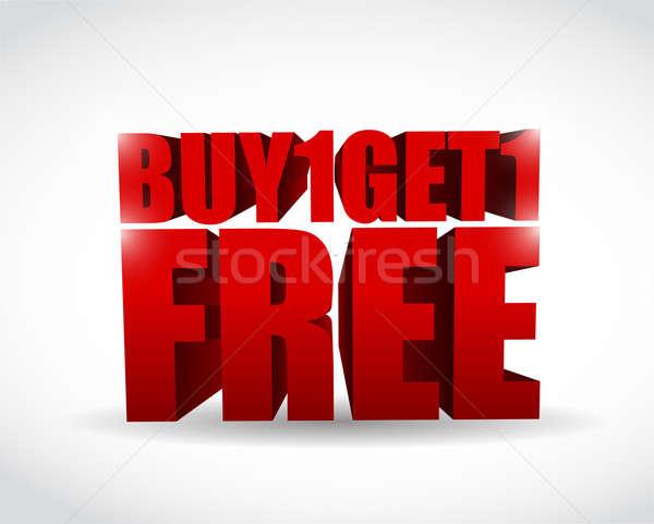 Kopen een gratis 3d tekst illustratie business Stockfoto © alexmillos