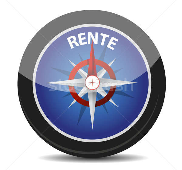 German text 'Rente', translate for pension  Stock photo © alexmillos