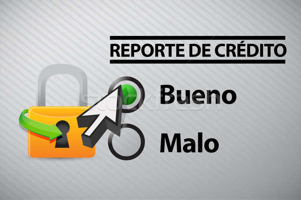 Credit Report selection in Spanish  Stock photo © alexmillos
