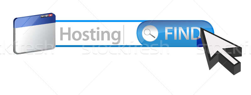 Zoeken web hosting internet technologie server Stockfoto © alexmillos