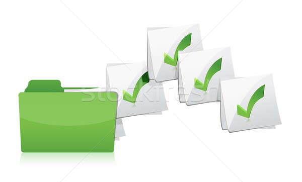 Sending files from folder illustration design over a white backg Stock photo © alexmillos
