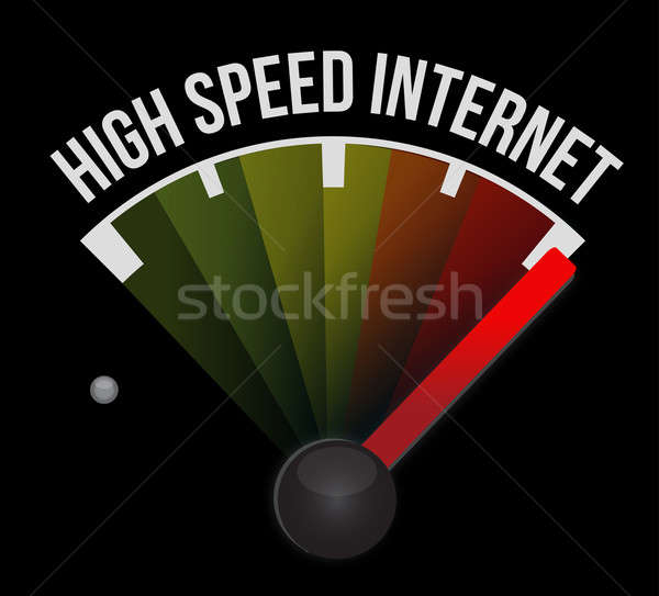 High speed internet Speedometer scoring high speed  Stock photo © alexmillos