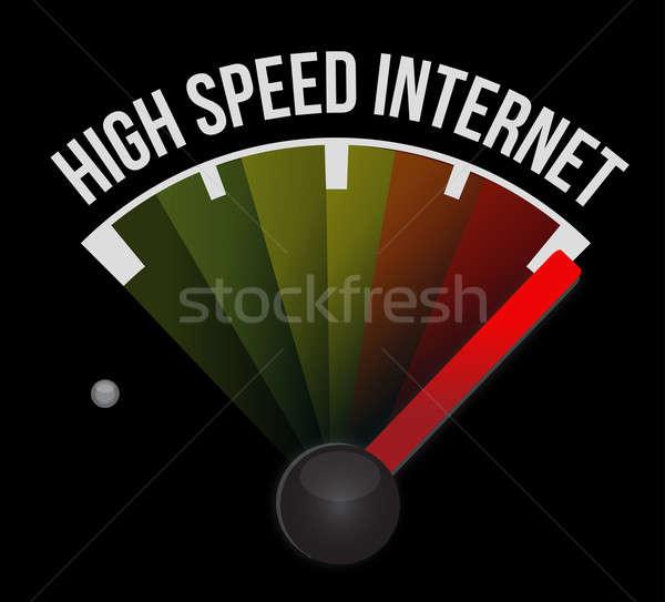 à grande vitesse internet indicateur de vitesse voiture lumière pouvoir Photo stock © alexmillos