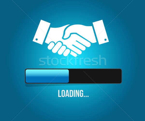 agreement handshake loading bar concept Stock photo © alexmillos