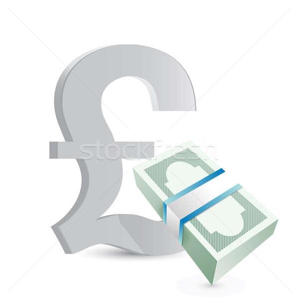 pound currency bills exchange concept Stock photo © alexmillos