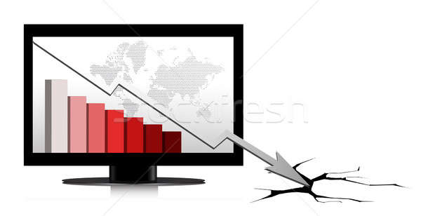 Crisis diagram illustration design over a white background Stock photo © alexmillos