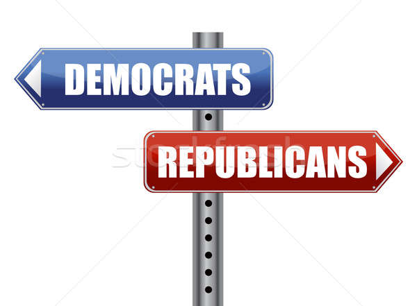 Democrats and Republicans election choices illustration Stock photo © alexmillos