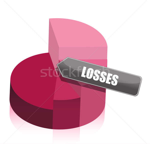 pie chart losses illustration design on white background Stock photo © alexmillos