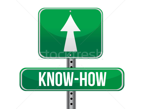 Know how road sign illustration design Stock photo © alexmillos