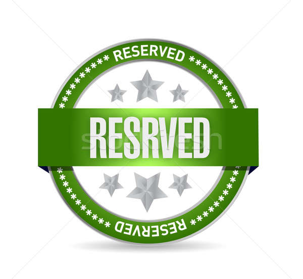 reserved seal illustration design over a white background Stock photo © alexmillos